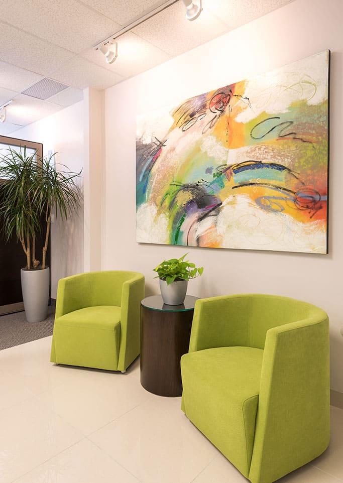 Upbeat office interior design dallas