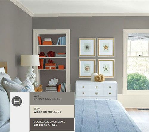 Benjamin Moore Chelsea Gray bedroom, featured img