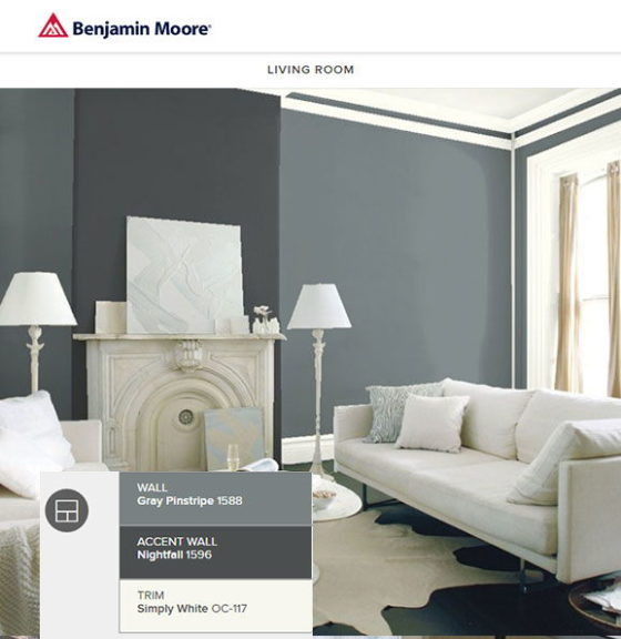 Benjamin Moore Pinstripe Gray Living Room Part 52