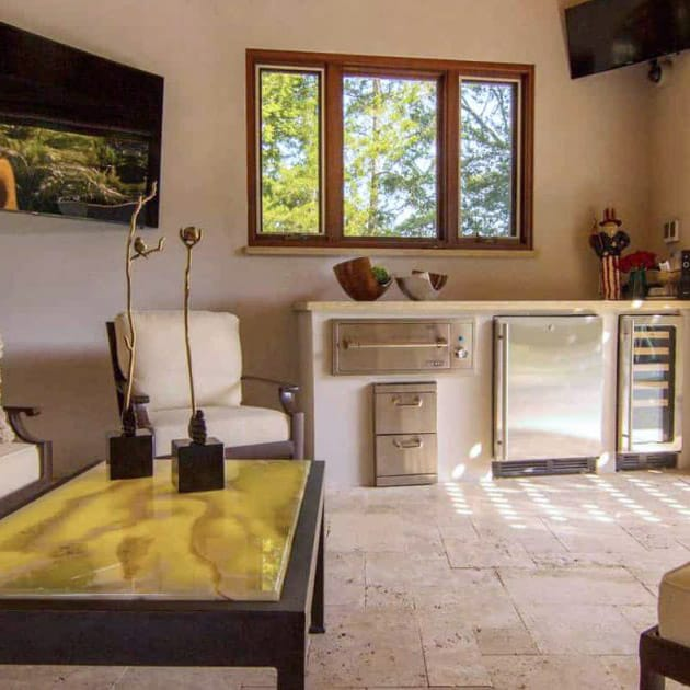 Custom interior design, pool house Kessler, TX By Nicole Arnold Interiors