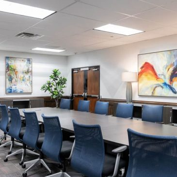 office interior design, conference room at ADT Dallas by Nicole Arnold Interiors